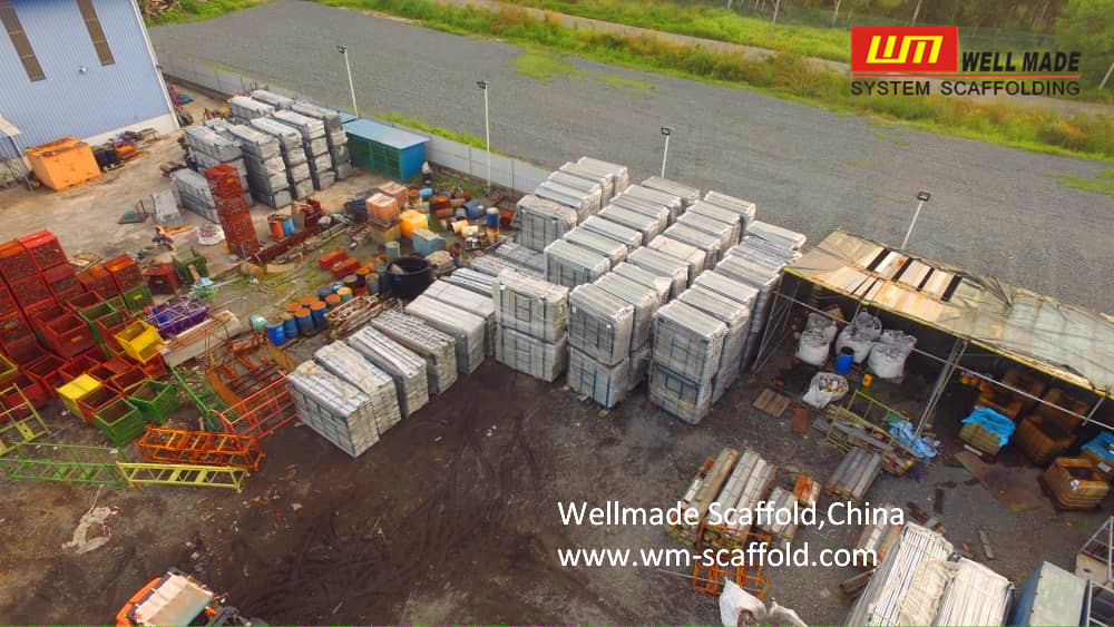 wellmade scaffold pallet credited by clients convenient in transportation storage and moving at construction site and easy in scaffolding storage